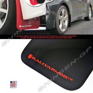 Rally Armor Ur Mud Flaps For 2012 2017 Veloster Turbo Non turbo Black Red