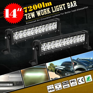10x 18w 4 Flood Offroad Work Led Light Bar Driving Drl Suv 4wd Truck For Jeep
