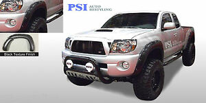 Black Textured Pocket Rivet Fender Flares 05 11 Toyota Tacoma 60 3 Bed Only