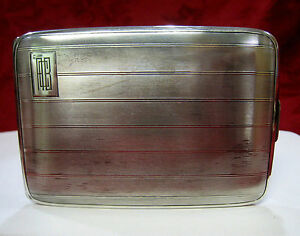 Antique Sterling Silver William B Kerr Cigarette Case 4680 Box Acb Monogram