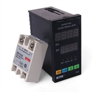 New Dual Digital F c Pid Temperature Controller Ta6 snr k Thermocouple Te74