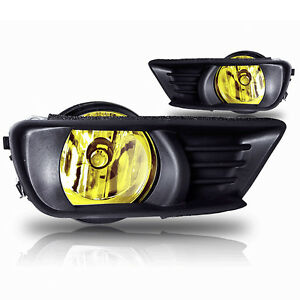 07 09 Camry Front Bumber Fog Light W wiring Kit Instructions Yellow