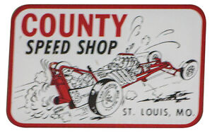 County Speed Shop St Louis Mo Decal Vintage Racing Sticker Rail Gasser Drag A