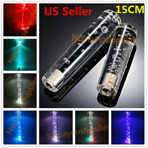 Universal 15cm 5 9 Inch Crystal Bubble Led Light Shift Knob Shifter Gear Lever