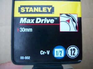New Stanley 1 2 In Drive 30 Mm Max Drive 12 Point Socket