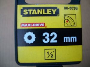 New Stanley 1 2 In Drive 32 Mm Max Drive 12 Point Socket