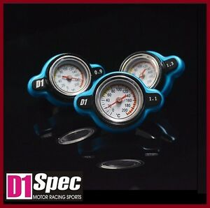 Authentic D1 Spec Blue Thermostatic Gauge Radiator Cap 1 1 Bar Big Head Cover