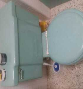 1960 S Vintage Ming Green Toilet And Sink Kohler Excellent Condition