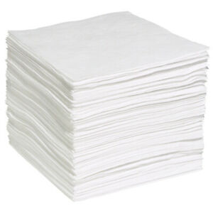 Wpb200s Oil Only Absorbent Pads 200 Pads Per Case 15 X 19 White wp s