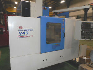 Kia Center V45 Cnc Vertical Machining Center With 2 Pallets