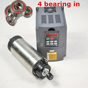 Four Bearing1 5kw Er11 Air cooled Spindle Motor And 1 5kw Hy Inverter Drive Vfd