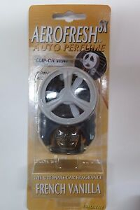 Car Air Freshener Car Perfume Spinning Action Clip On Vent French Vanilla