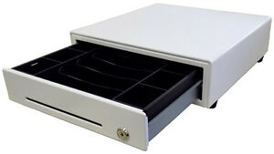 Ep 1313 Apple White Square App Compatible 13in Cash Drawer 8 Coin 5 Bill