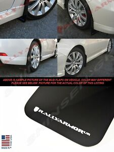 Rally Armor Ur Black Mud Flaps W White Logo For 2008 2011 Impreza And 08 10 Wrx