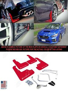 Rally Armor Ur Series Red Mud Flaps W White Logo For 2015 2020 Wrx