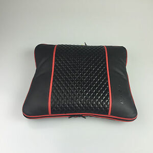 31002 Circle Cool Black With Red Line Pvc Leather Seat Cushion Blanket Suv Truck