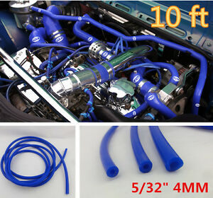 Blue 5 32 4mm Vacuum Silicone Hose Turbo Intercooler Coupler Pipe Turbo 10 Feet