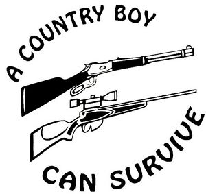 Country Boy Can Window Sticker Car rv truck atv hunting outdoor Vinyl Decal
