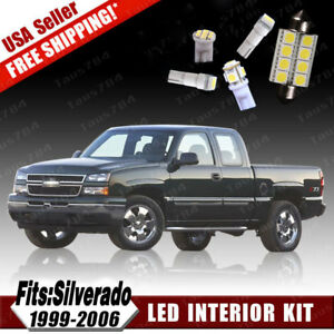 18pcs White Led Interior License Light Package Kit For Chevy Silverado 1999 2006