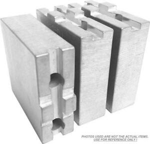 Tg 6158af Aluminum Soft Jaws For Tongue Groove 6 Chuck W a 1 5 Ht 3 Pc Set
