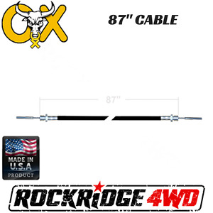 87 Ox Locker Cable Assembly W Jamb Nut For Jeep Ford Gm Differential 4x4