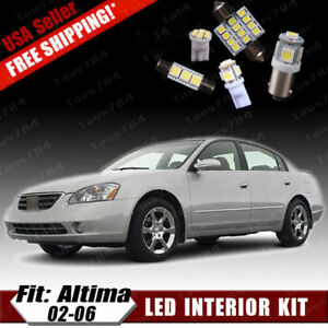 15 Pcs Xenon White Led Interior Package Kit For 2002 2006 Nissan Altima Gifts