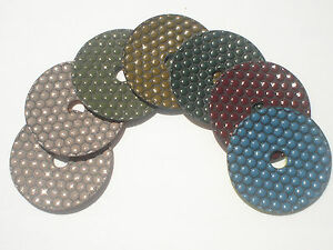4 Dry Polishing Pads Honey Style Perfect concrete stone marble best