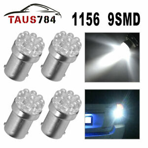 4x White 9 Smd 1156 Ba15s 1141 Rv Trailer Led Tail Brake Stop Light Bulb 12v