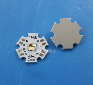 10pcs 10w Cree Xlamp Xm l Rgbw Rgb White Color Led Emitter 4 chip 20mm Star