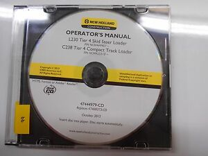 New Holland Skid Steer L230 C238 Tier 4 Operator s Owner s Manual Cd