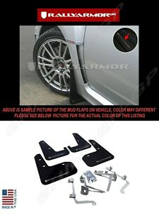 Rally Armor Black Mud Flaps W Silver Logo For 2011 2014 Subaru Wrx Sti Sedan