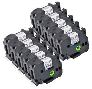 10pk Black On White Label Tape Compatible For Brother Tz Tze 251 Tze 251 P touch