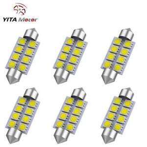 6 X 42mm 5050 8smd Festoon White 212 2 578 569 Dome Map License Led Light Bulb