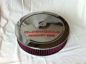 Chrome Air Cleaner Washable Filter 14x3 Oldsmobile 455 Edelbrock Carburetor New