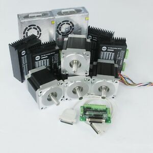 4 Nema 34 Step Stepper Motors 1232oz in driver Dm860a power 350w 60vdc