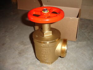 Croker A56y006 Fire Hose Angle Control Valve 2 1 2 Nst X 2 1 2 Npt Rated 300lb