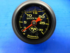 Marshall Gauge 0 30 Psi Fuel Pressure Oil Pressure 1 5 Midnight Black Liquid