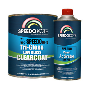 Low Gloss 2 1 Voc Urethane Clear Coat Smr 115 170 Gallon Kit W Slow Act
