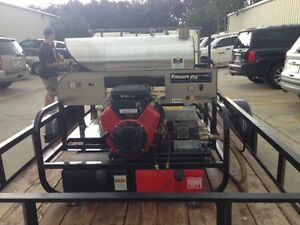Pressure Pro 4000 Psi gas hot Water Super Skid Pressure Washer Trailer