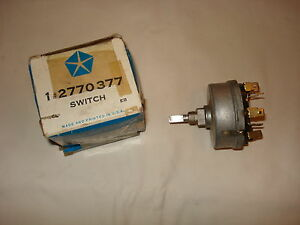 Nos Mopar 1966 Valiant Dart Barracuda Variable Speed Wiper Switch Nib Nice