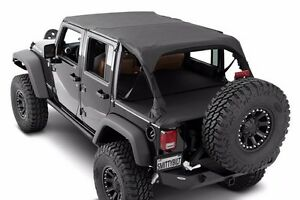 Smittybilt Extended Top In Black Diamond For 2007 2009 4 door Jeep Wrangler Jk