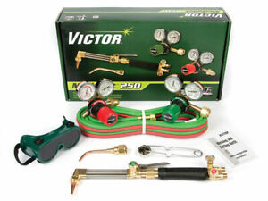 0384 2540 Victor Medalist 250 Torch Kit Set With Regulators Ca411 3 Wh411c G250