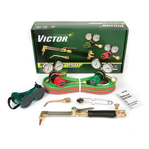 0384 2541 Victor Medalist 250 Torch Kit Set With Regulators Ca2411 3 Wh411c G250