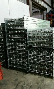 Conveyor Roller Skate Pallet Rack Racking Industrial Systems 10 lx24 Used