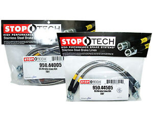 Stoptech Stainless Steel Braided Brake Lines front Rear Set 44005 44505