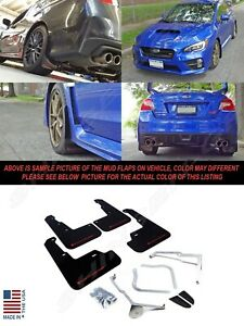 Rally Armor Ur Series Black Mud Flaps W Red Logo For 2015 2020 Wrx