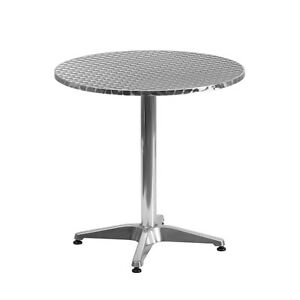 27 5 Round Aluminum Indoor outdoor Restaurant Table With Base