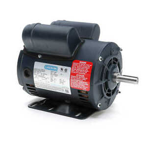 Leeson Electric Motor 116523 00 5hp Special 3450 Rpm Single Phase 208 230 5 Hp
