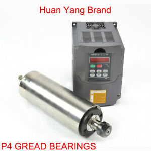 2 2kw Water Cooled Motor Spindle Drive Inverter Vfd 80mm Diameter With Hy