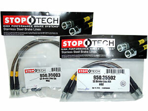 Stoptech Stainless Steel Braided Brake Lines Front Rear Set 35003 35502